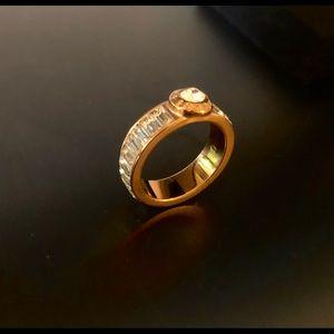 Henri Bendel Rose Gold Baguette Band Ring (size 6)